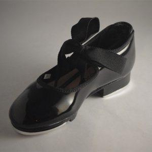 Girls Black Tap Shoe